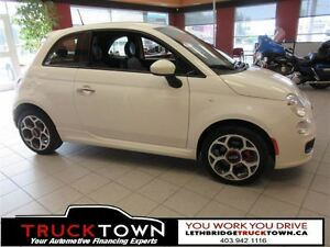 2016 Fiat 500 LEATHER SPORT!!
