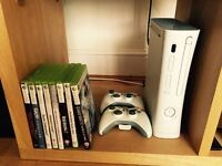 Xbox 360 with 2 controller and all of games £30