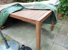 As new Solid Oak Garden Table by Next