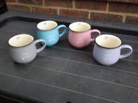 Set of 4 tea & coffee mugs