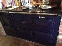 Navy blue 4-oven AGA gas range cooker **BARGAIN RRP from £12,295