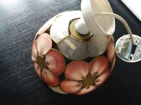 Ceiling light Pendant/ lamp shade with flower and fixtures included