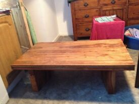 Solid wood top quality coffee table £50