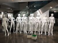 12pcs STUNNING FEMALE WHITE GLOSS SHOP DISPLAY MANNEQUIN FULL SIZE WITH HEAD - Oxford Street