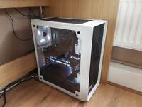 Gaming PC RIG i7 7700K/GTX 1080 TI/16GB RAM/2x SSD's/4TBHD (beautiful white and black design)