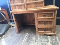 Old rustic distressed Mexican pine desk - for refurbing