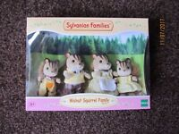 Sylvanian Families Walnut Squirrel Family BNIB
