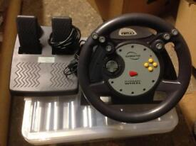 G64 Nintendo 64 Steering Wheel with Rumble Effect