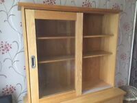 Good condition wooden sideboard with top section, three drawers/cupboards to collect
