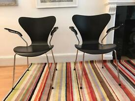 "Set of 8 ""Ant"" chairs"