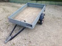 "GALVANISED TRAILER 5'6"" x 3'6"" IDEAL SIZE for ATV QUAD BIKE GO-KART TIP CAR BOOT GARDENING SHOW"