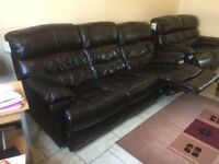 3 Seater and 2 recliner sofa