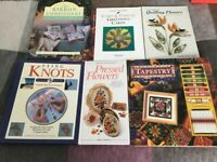 Selection of Crafting Books and a Tapestry Workstation Kit.