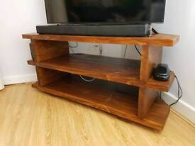 Solid Handmade Tv unit Rustic Wood Style