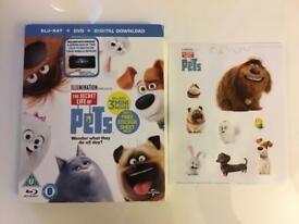 The secret life of pets Blu Ray & dvd