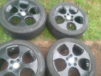 vw moza 112 stud alloys with good tyres