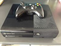 Xbox 360 E 500gb + 41 games + leads & controller