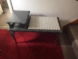 Telephone Table/ Hall Seat