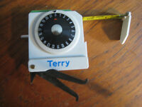 Terry Lawn Bowls Measure - deluxe model with double scoring dial and calipers. Hardly used.