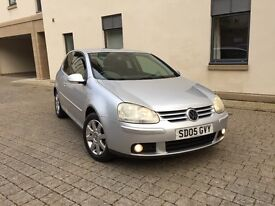 VOLKSWAGEN GOLF 2.0 FSI GT 2005 WITH ONLY 63000 MILES AND MOT 1 YEAR