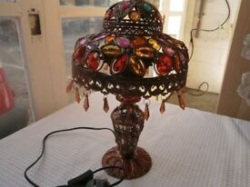 morrocan gem coloured lamp