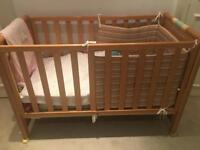 ITALIAN EXCELLENT QUALITY wooden baby cot/bed