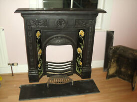 Cast iron Victorian Fireplace for sale.