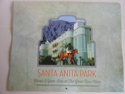 2015 Calendar Santa Anita Racetrack Different Photo Each Month 13 5 X 11 In
