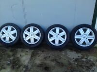 Renault Alloy wheels 16 inch 4 stud with 205 50 16 tyres