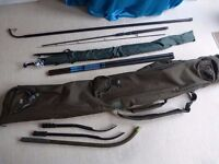Nash rod holdall, weighing stick, x2 whips, x3 boilie sticks,umbrella, small spinning rod, JOB LOT