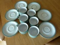6 x Denby Regency Green Tea/Coffee Cups & Saucers - Unused - RRP £109.44