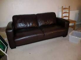 Leather Brown Sofabed
