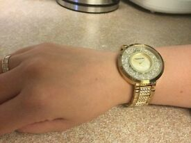 SWAROVSKI LADIES WATCH - PEARL FACE - new battery fitted