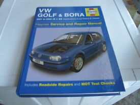 VW GOLF & BORA HAYNES MANUAL