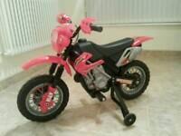 Kids red 6v Electric motorbike