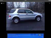 2003 Mercedes Ml320 auto 4x4 station wagon satnav 5 door full black leather satnav