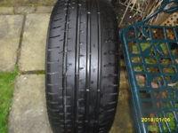 one part worn tyre size 235 x 40 x 19.