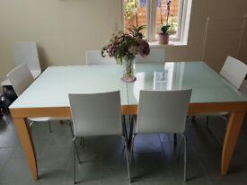 Extendable Conran DiningTable 6-8 people. 8 Chairs. Habitat Sideboard