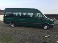 2007 VW CRAFTER TDI CR35 17 seater twinwheel minibus x council owned drives like new unmarked seats