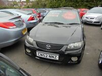 MAZDA 323F 1991cc SPORT 5 DOOR HATCH 2002-52, LOOK 1 OWNER FROM NEW, 60K, FULL SERVICE HISTORY,
