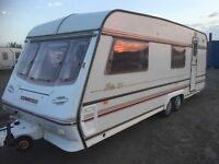 compass rally 5 berth twin axle cassette toilet shower hot and cold water blinds fly nets carver