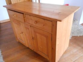very old pine dresser, made from local wood ,