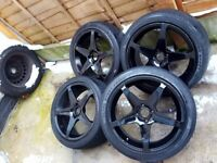 17 inch 4x100 fit vauxhall renault vw mg rover bmw e30 & more
