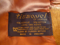 BEAUTIFUL FAUX FUR JACKET BY TISSAVEL, FRANCE