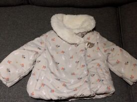 Beautiful and warm winter jacket 6-9 months by John Lewis