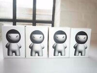 """4 x I, WZL 3.5"""" Blank DIY White Vinyl Figure by adFunture – New Boxed"""