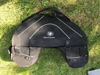 Motorbike twin saddle bag luggage carrier