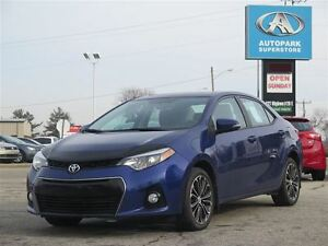 2014 Toyota Corolla S / SUNROOF / LEATHER & CLOTH / ALLOYS