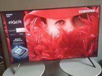Samsung QLED 49 Inch Premium 4K HDR HD Smart TV (Model QE49Q67RAT)!!!