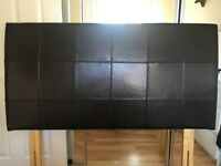 Brown Leather Double bed headboard (Headboard only )